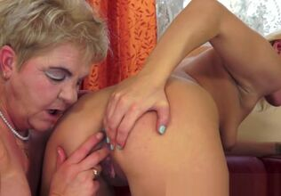 Grandmother double penetration